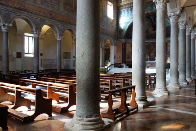 santa maria in domnica with roman columns