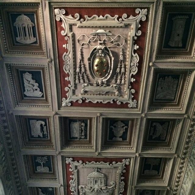 santa maria navicella ceiling with medici crest