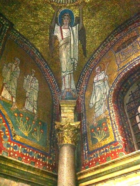 byzantine mosaics in santa pressede