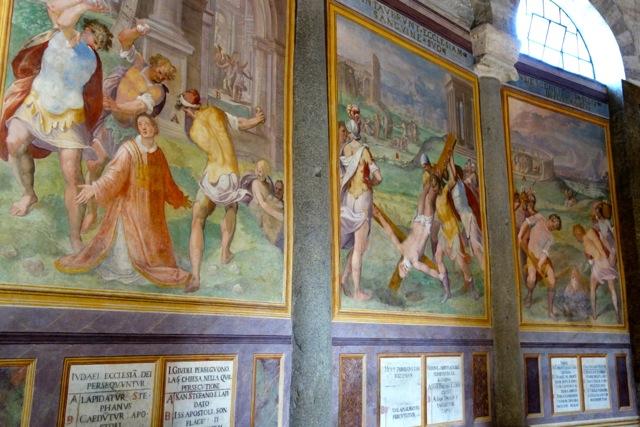 santo stefano rotondo paintings of martyrs