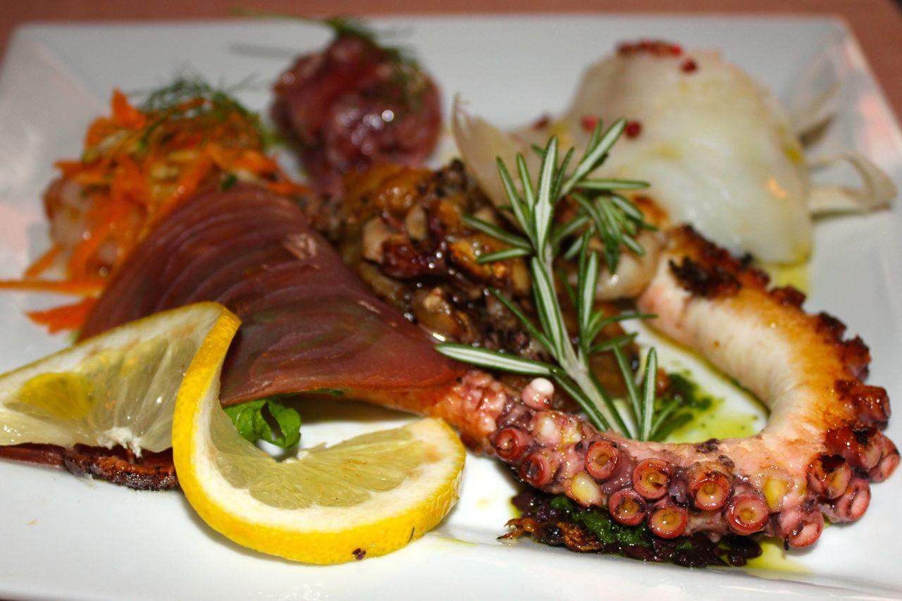 combo seafood antipasto plate at ditirambo