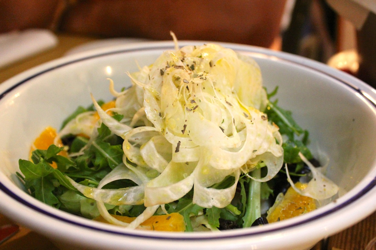 orange and fennel salad with black olives - a summer treat in Rome