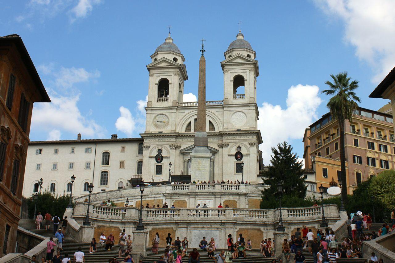 spanish steps and trinita dei monti