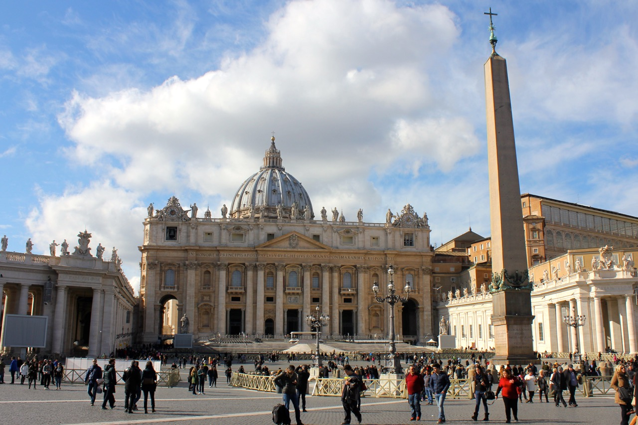 st peters square in february