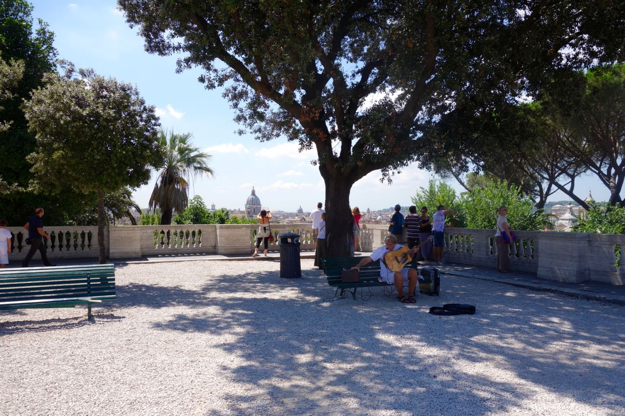 pincio in rome in summer - no crowds
