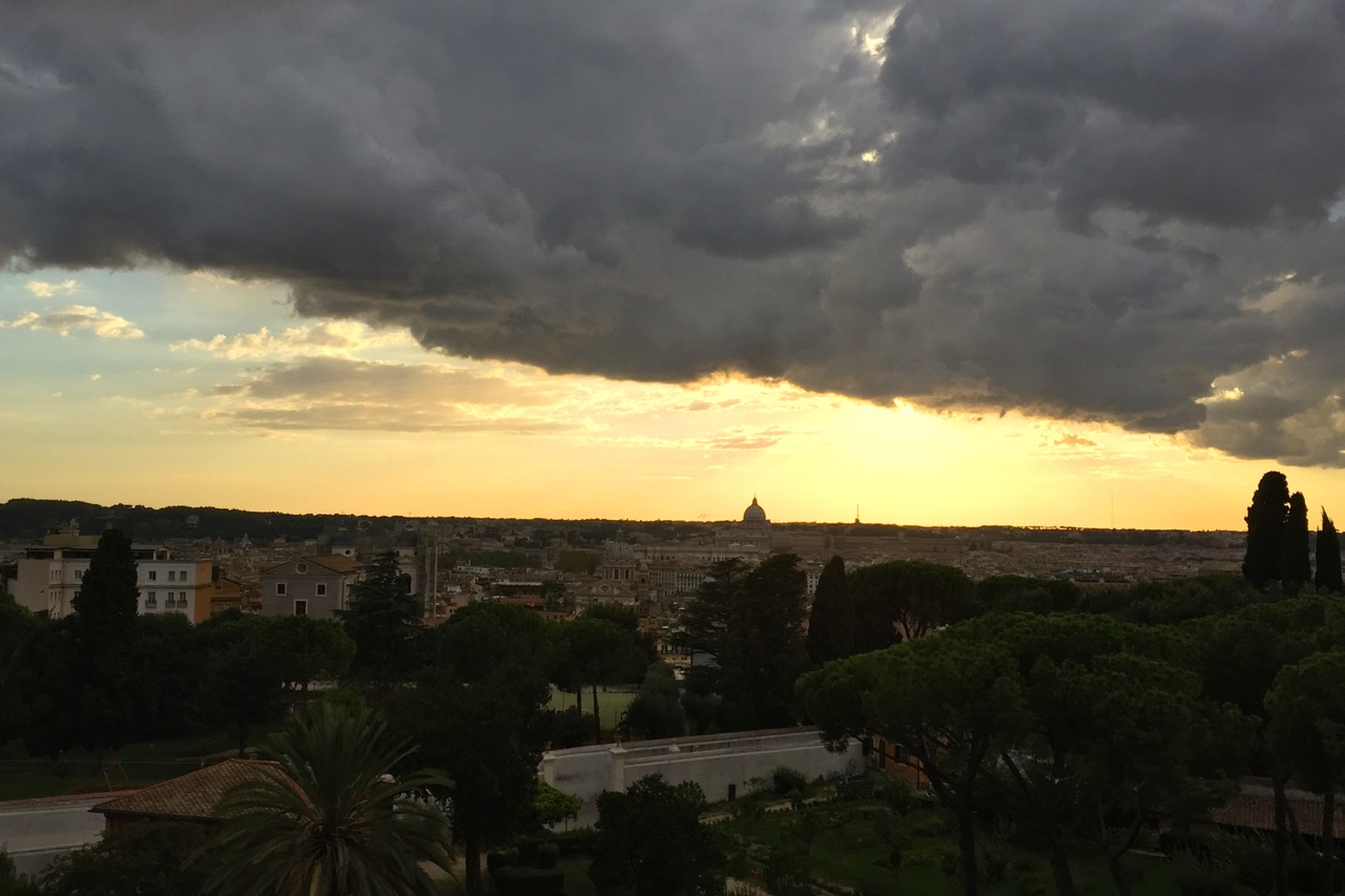 view of rome after the rain from sofitel