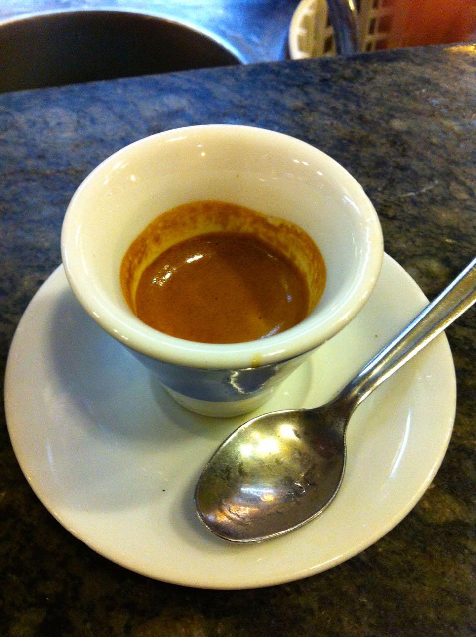 espresso at cafe tazza d'oro