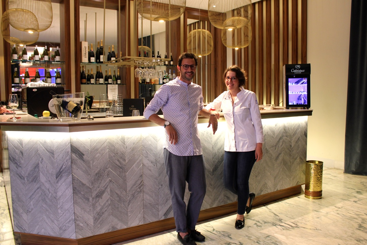 two of the creators of caffe dell'opera, mario sansone and chef alba esteban ruiz