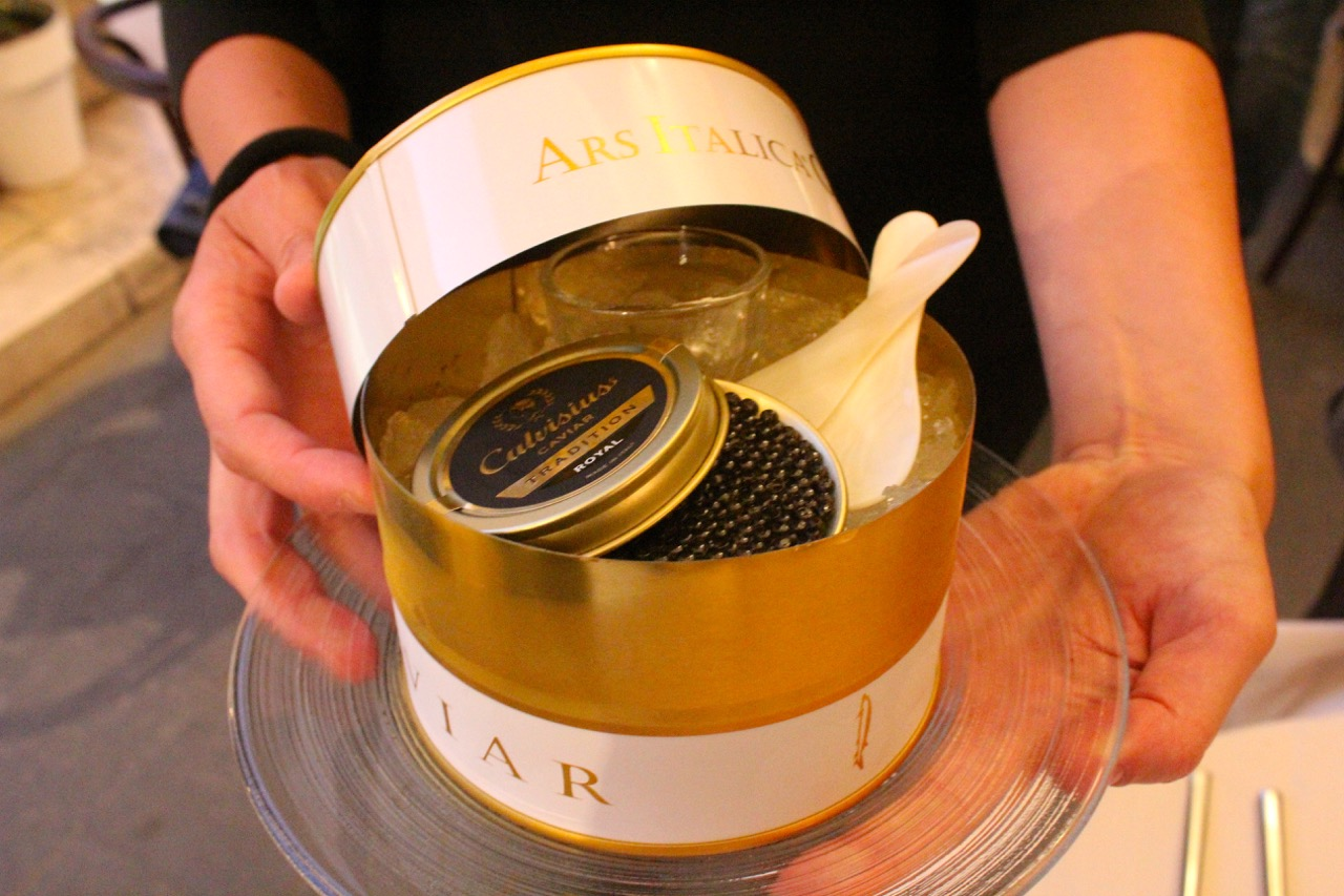 silky, buttery caviar with vodka at caffe dell'opera