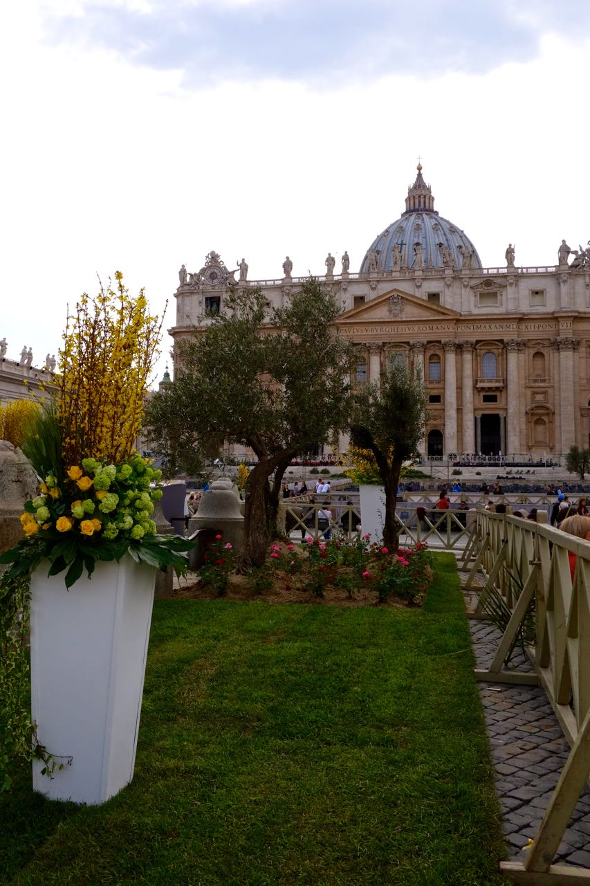 Easter prep in Saint Peter's Square