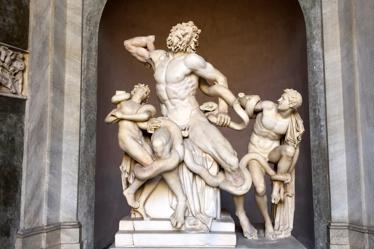 Laocoön sculpture in vatican museums