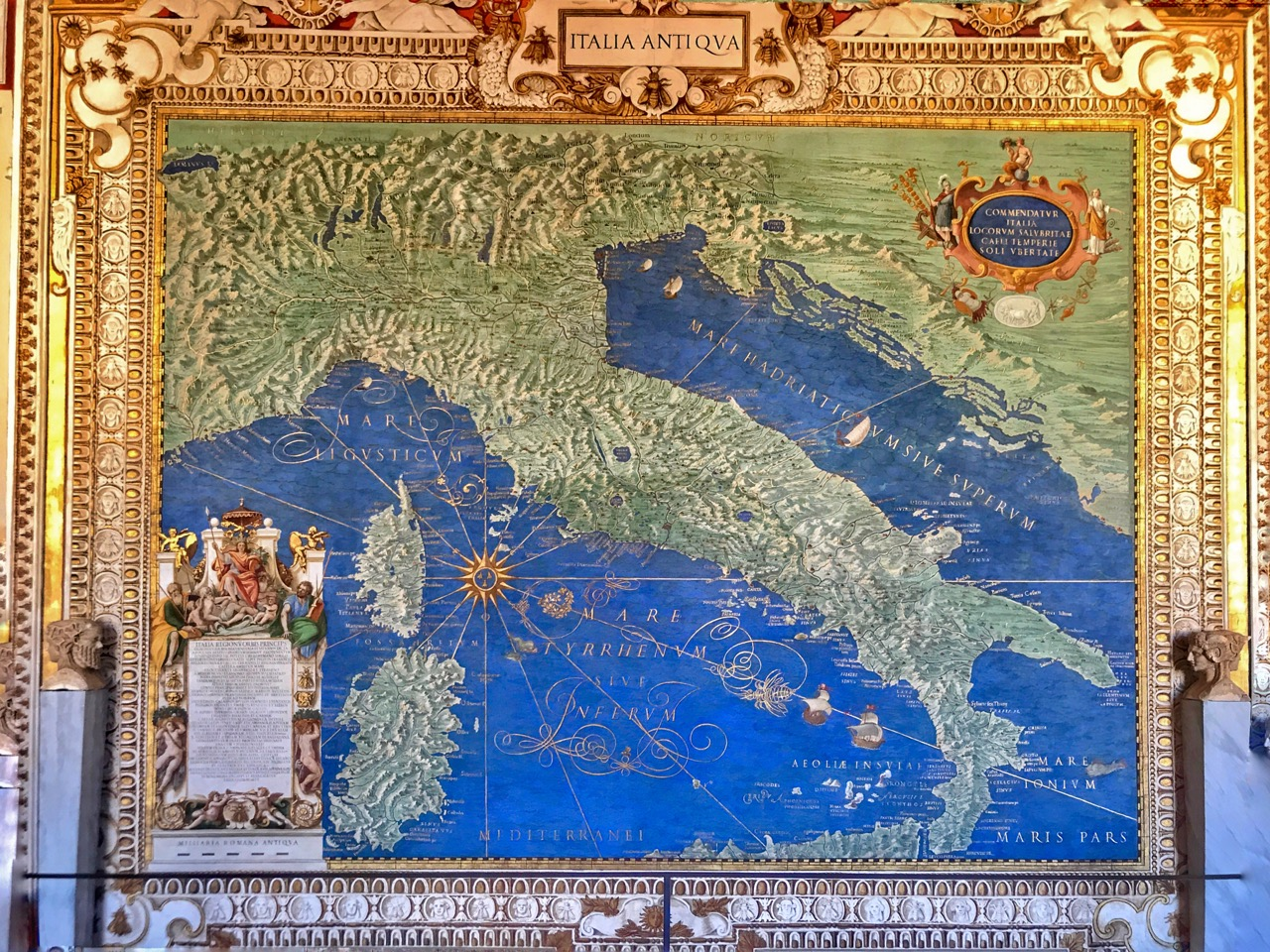 map of italy in vatican museums