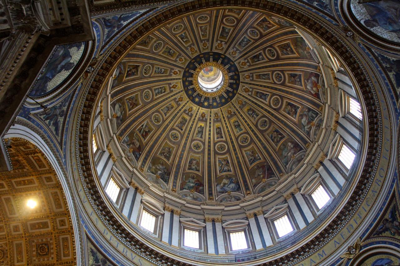 saint peter's basilica - michelangelo's dome