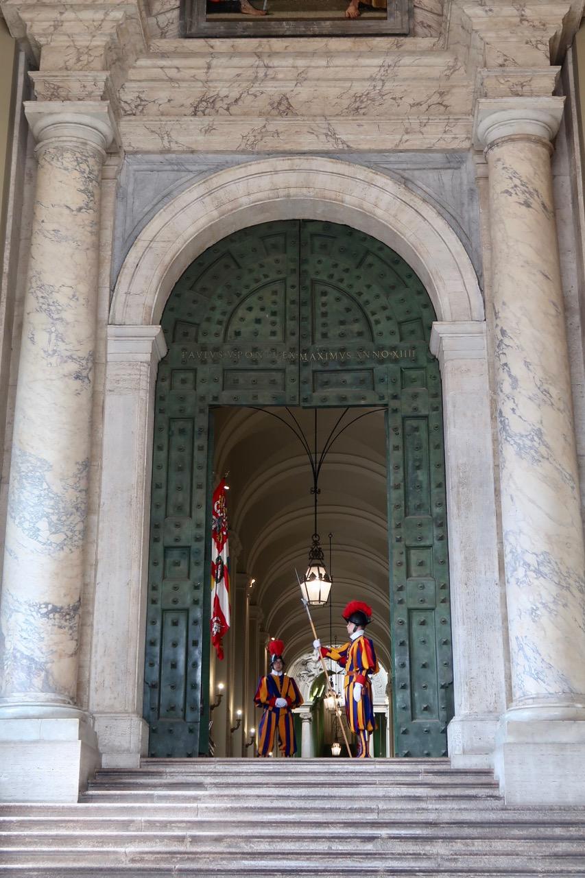 bronze door at vatican