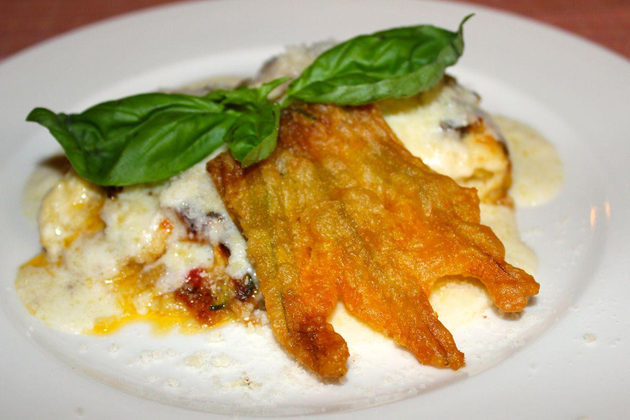vegetarian lasagne at ditirambo