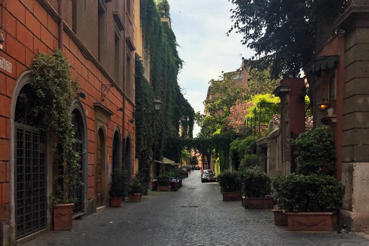 Via Margutta in Rome in summer