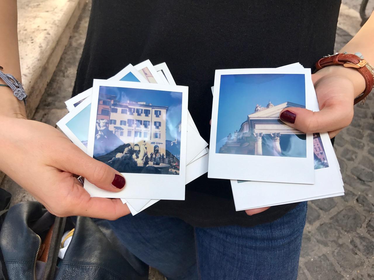 Polaroid photos of Rome with Sophort Tours