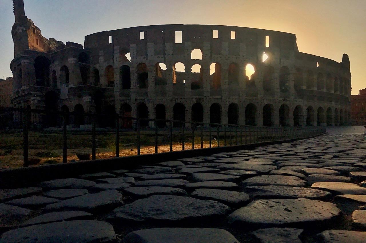 colosseum at dawn