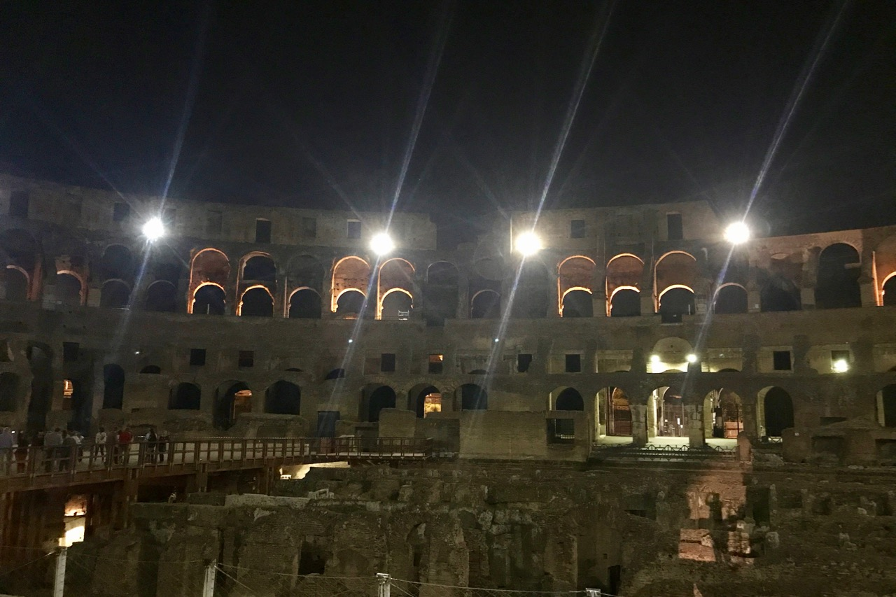 colosseum night tour - arena floor
