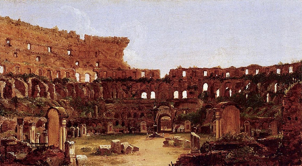 thomas cole painting of the rome colosseum