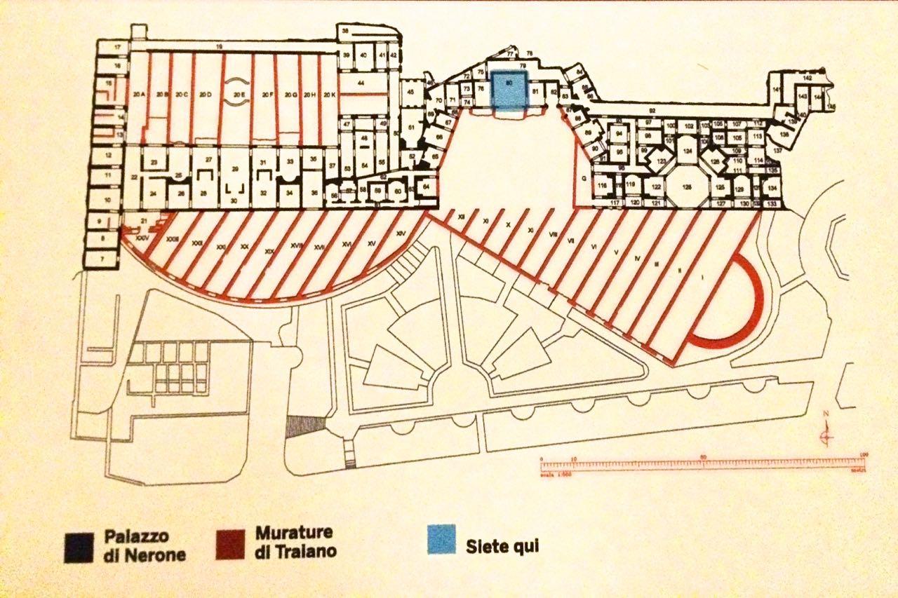 map of domus aurea area