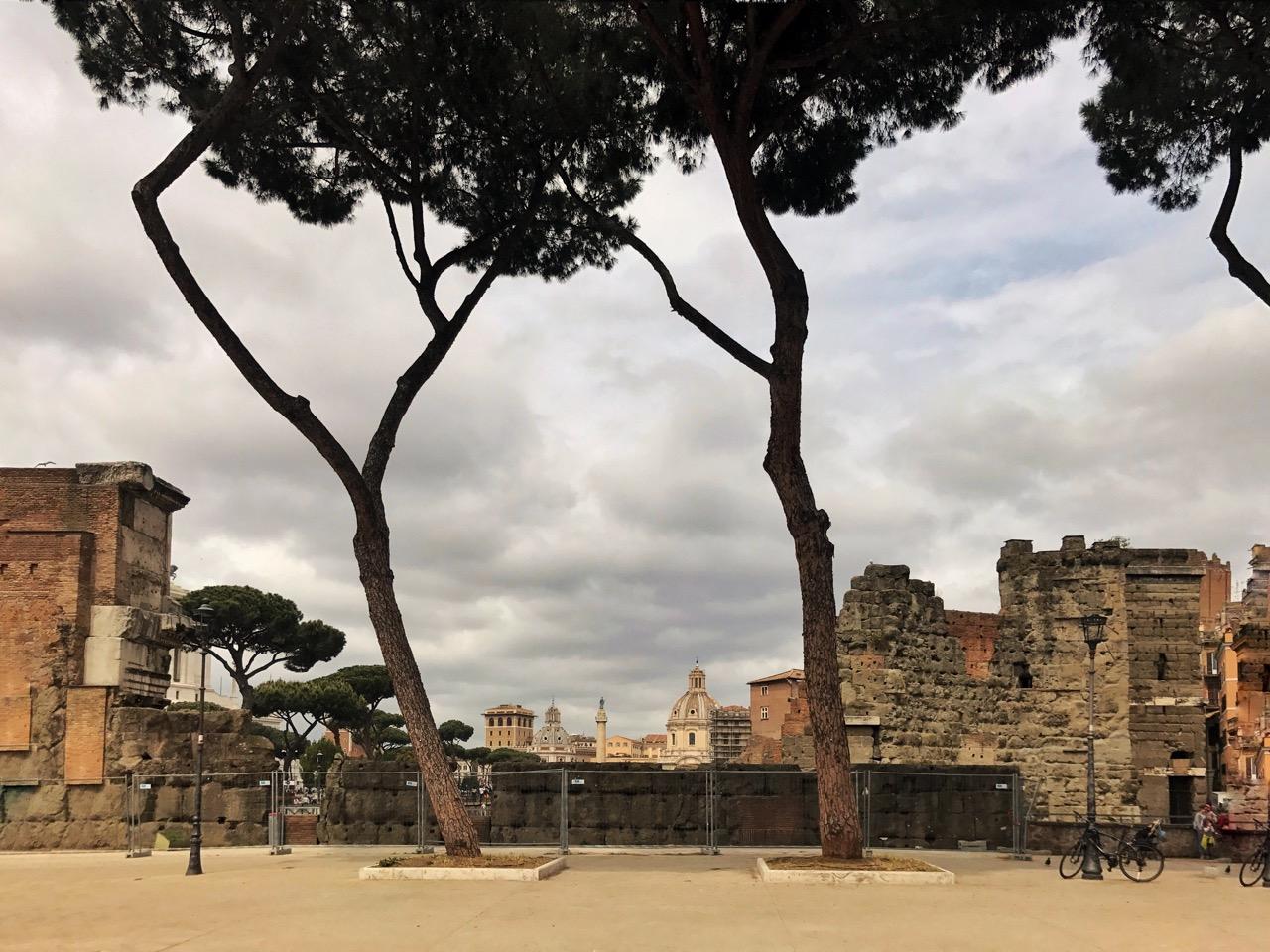 Cloudy skies and Roman ruins