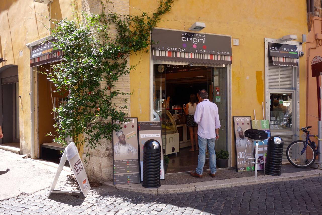 gelateria origini near rome pantheon