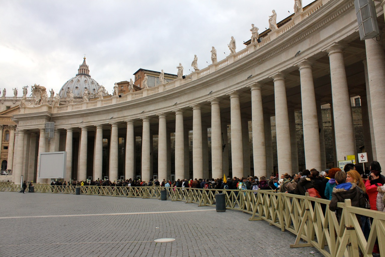 line at st peters january 2