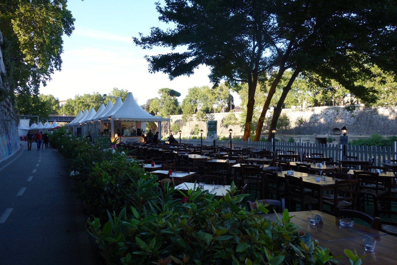 roma estate lungotevere - rome in summer along the tiber