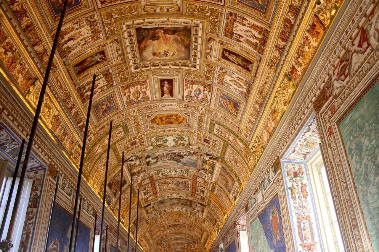 map room ceiling vatican museums