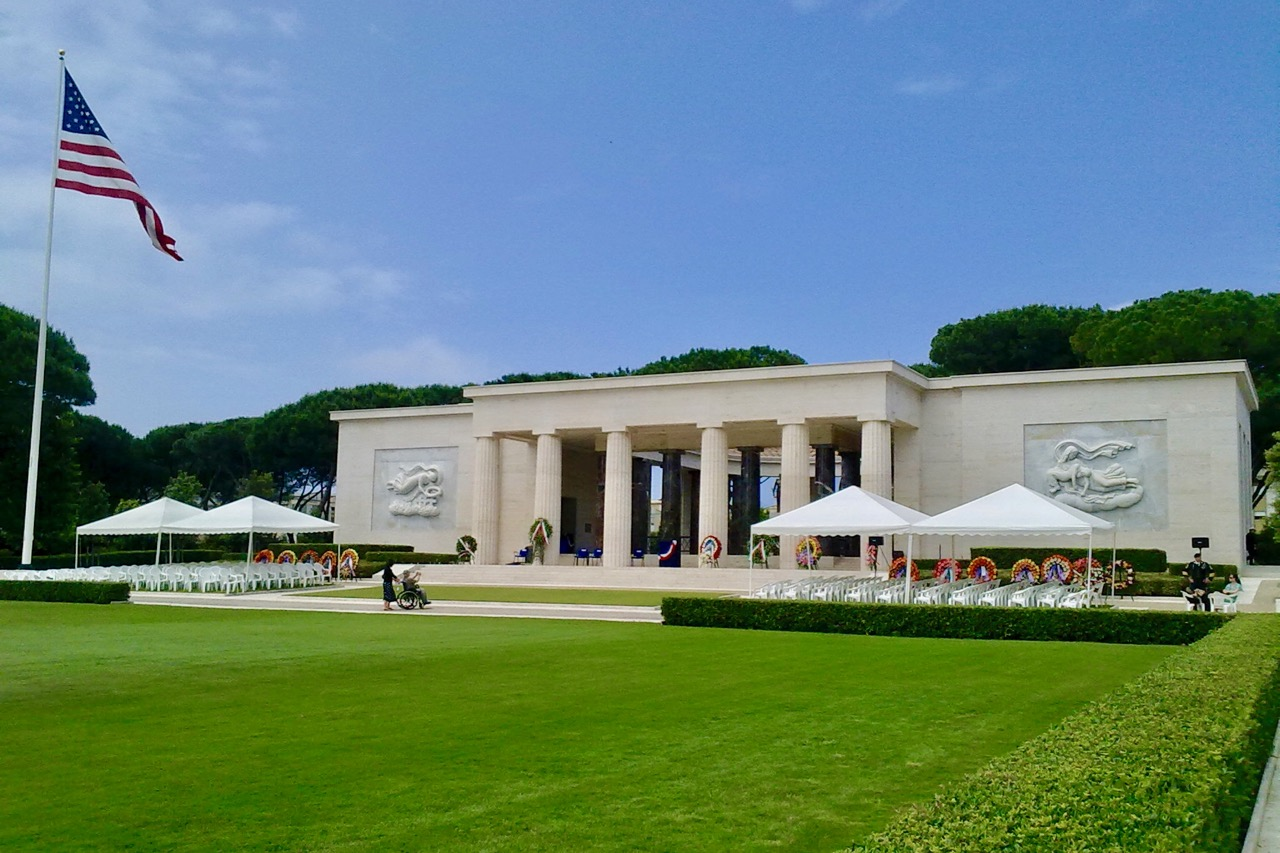 the American cemetery at Nettuno on Memorial Day