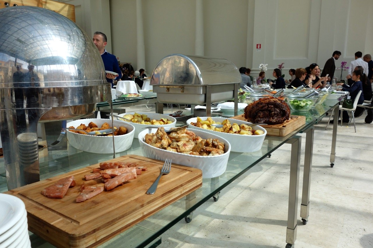 generous buffet lunch at open colonna