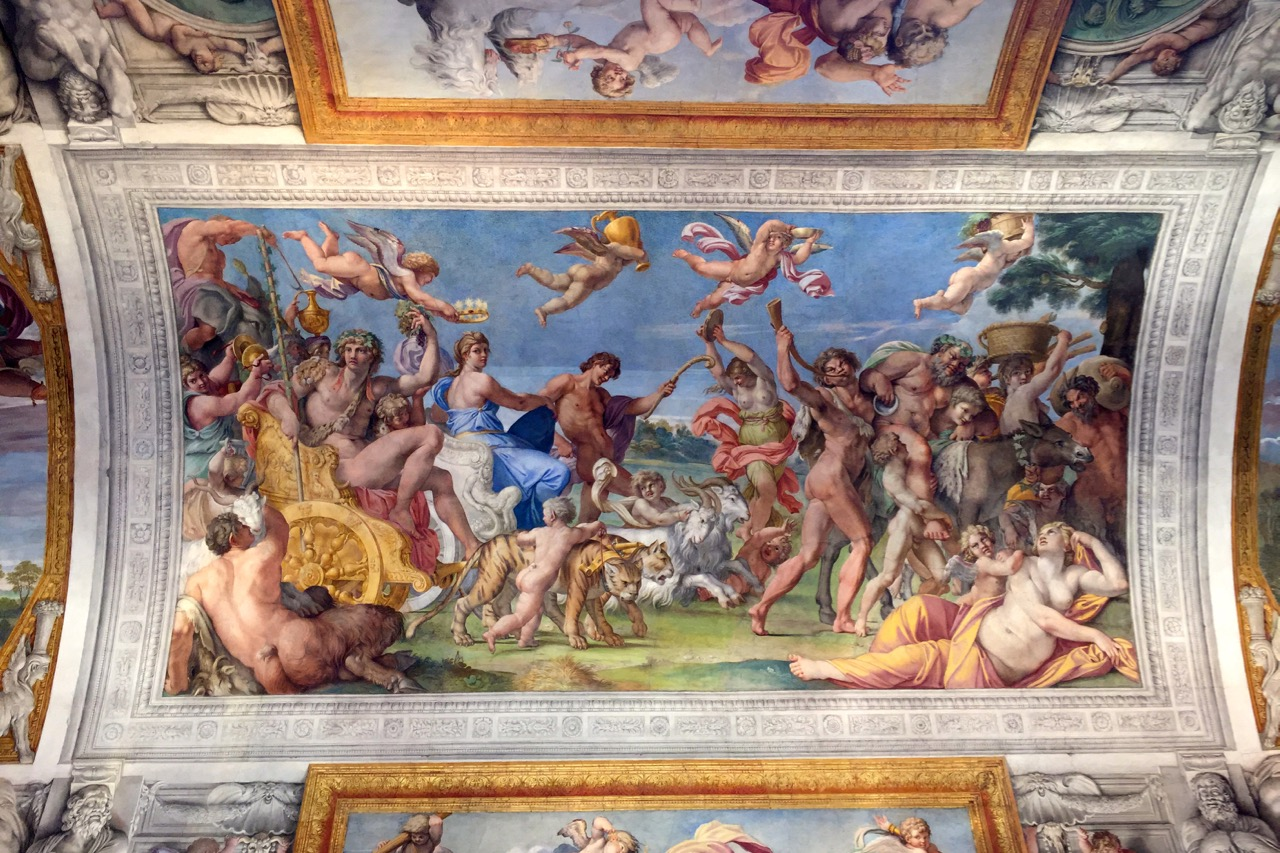 The ceiling of Palazzo Farnese by Annibale Carracci