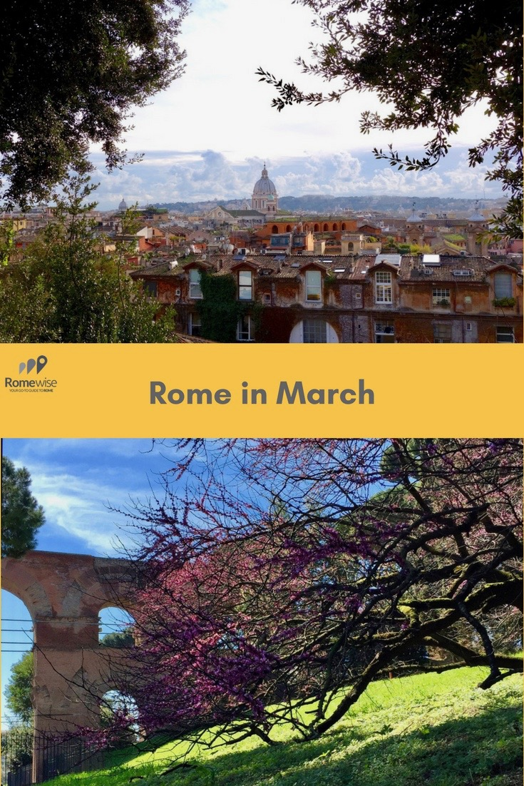 Rome in March - what the weather's like, what to pack, and what to expect. By Romewise.