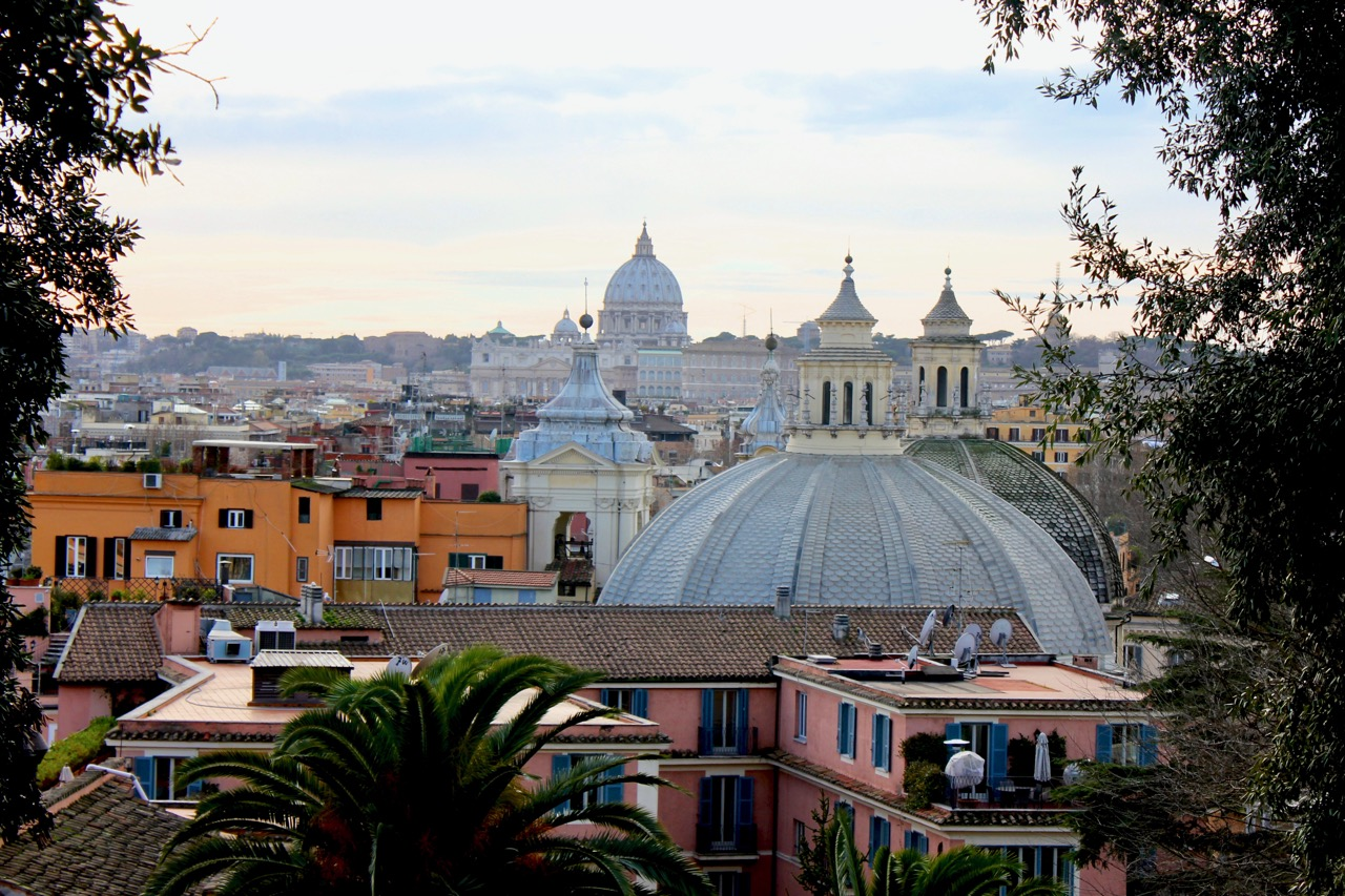 rome rooftops from pincio hill