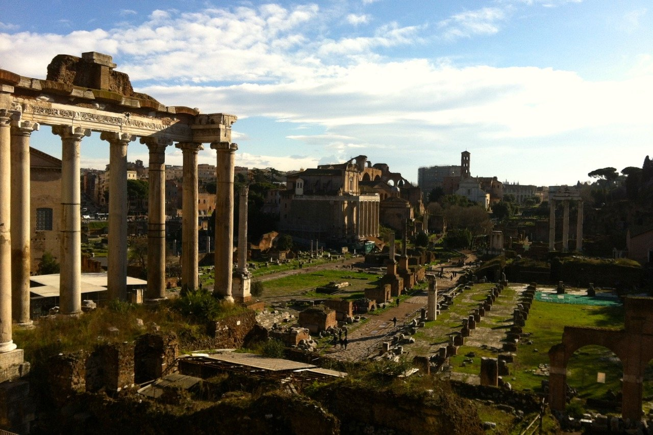 roman forum sun in january