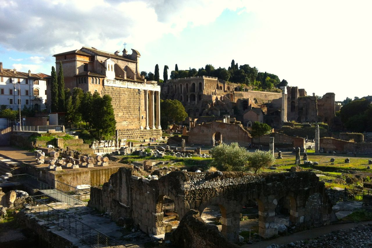 roman forum in october