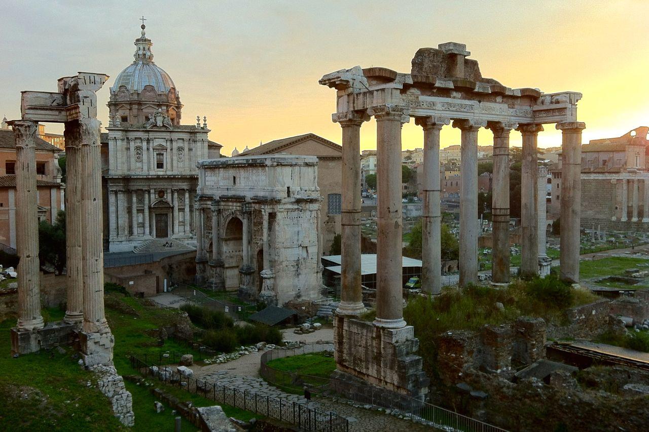 roman forum sunset november