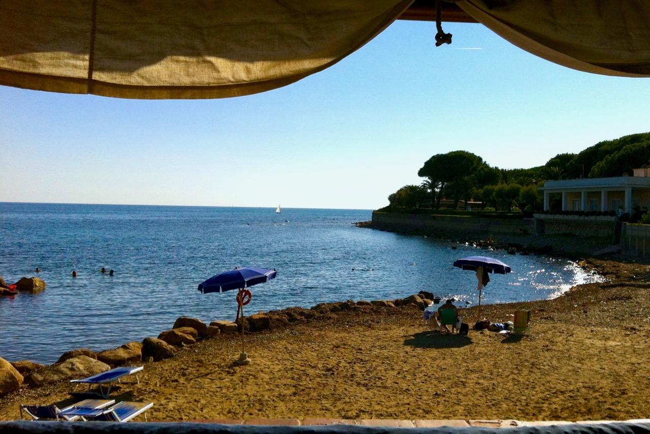view from lunch at santa marinella