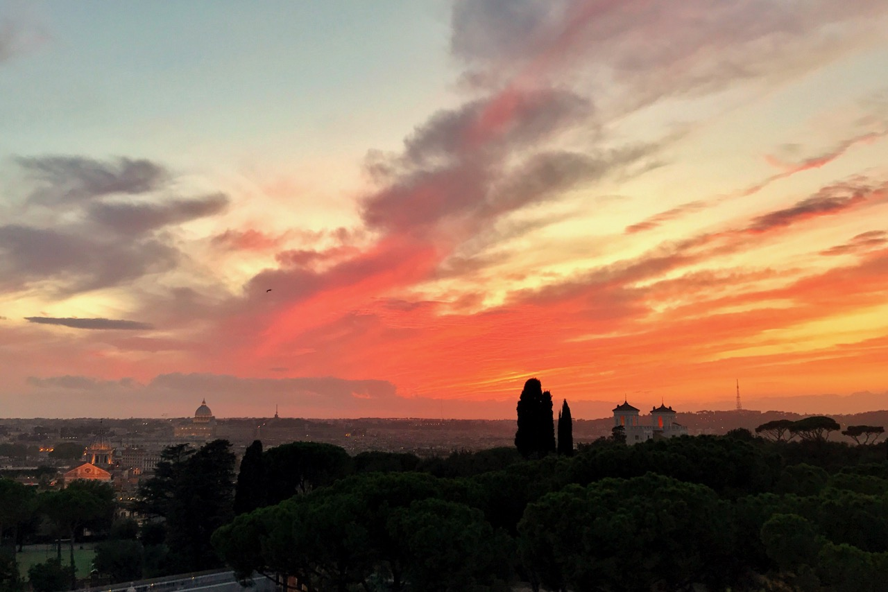sunset from rome sofitel