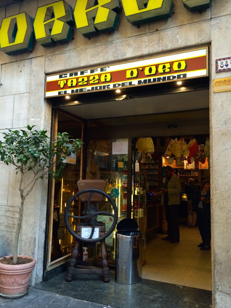 caffe tazza d'oro near pantheon