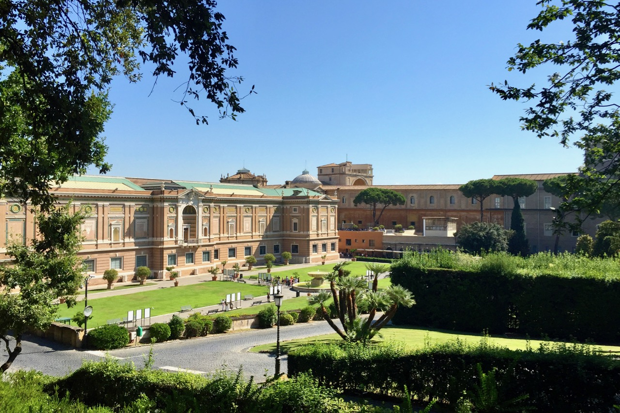 vatican museums as seen from the gardens