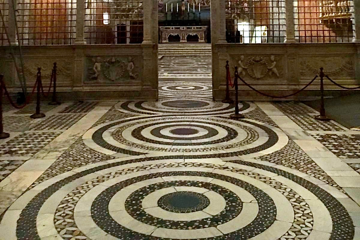 cosmatesque floor of sistine chapel
